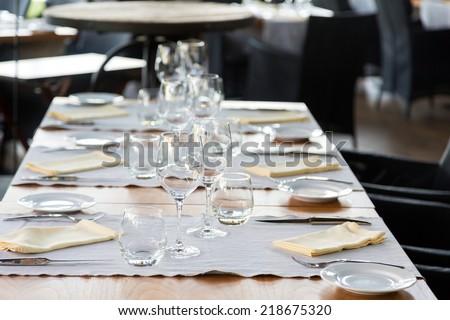 Elegant table set - stock photo