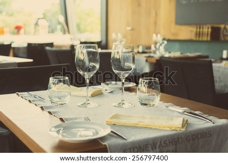 Elegant table set up for dinning room