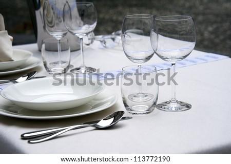 Elegant table setting - stock photo