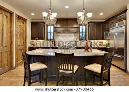 Elegant Upscale Kitchen - stock photo