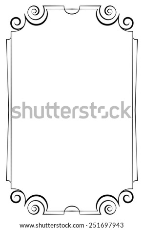 Elegant vertical frame on a white background