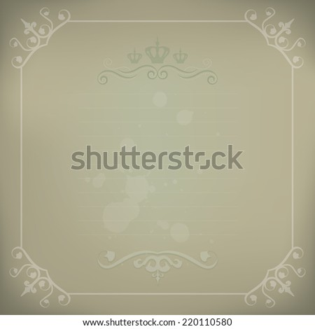 Elegant Victorian Style Vintage Framed Background - stock photo