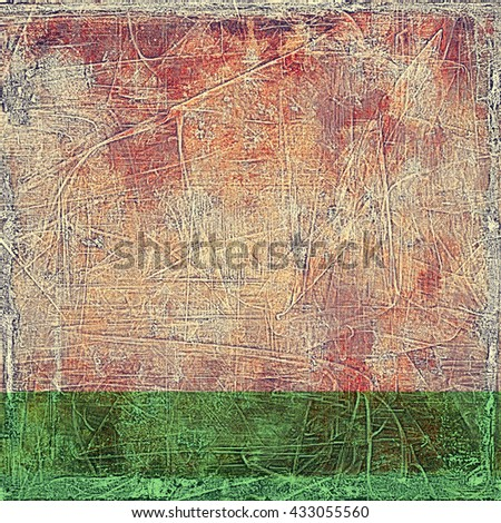 Elegant vintage background, grunge design template. Ancient texture with different color patterns: yellow (beige); brown; red (orange); gray; purple (violet); pink - stock photo