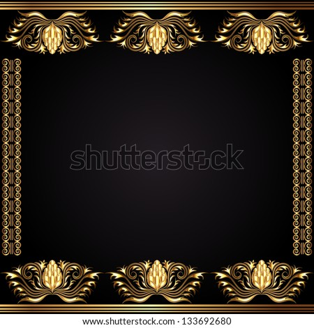 Elegant vintage card - stock photo