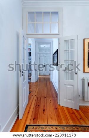 Elegant vintage house interiors hallway - stock photo