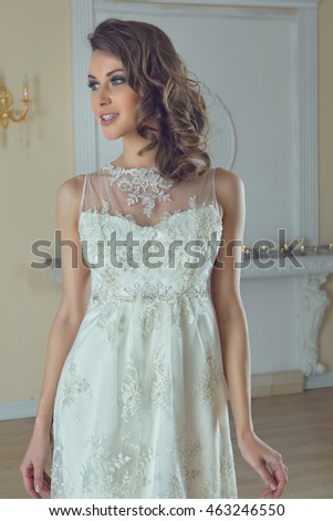 Elegant Wedding Dress Gorgeous Bride Bride Stock Photo (Royalty Free ...