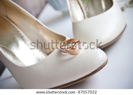 Elegant wedding shoes composition