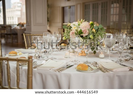 Elegant Wedding Table Setting Stock Photo (Edit Now)- Shutterstock