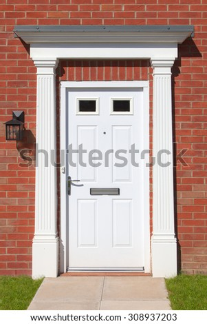 Elegant white door