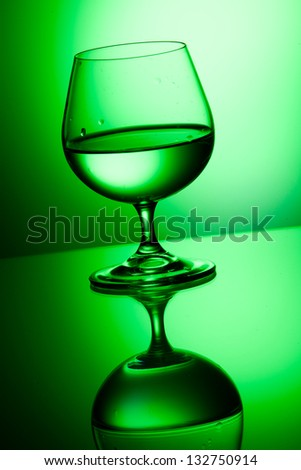 Elegant wineglass with alcohol