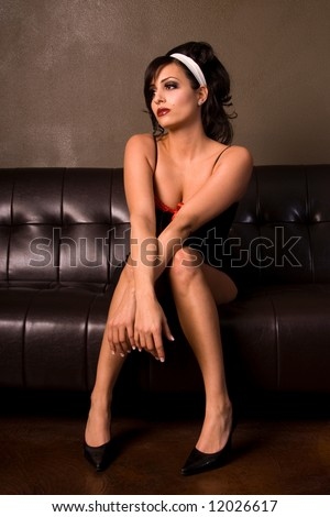 Elegant woman. - stock photo