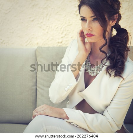 elegant woman - stock photo