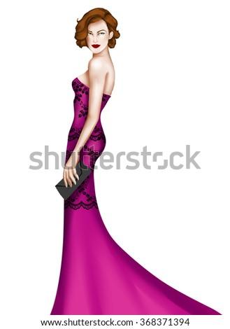 Elegant fashion dress