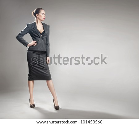 Elegant young businesswoman - stock photo