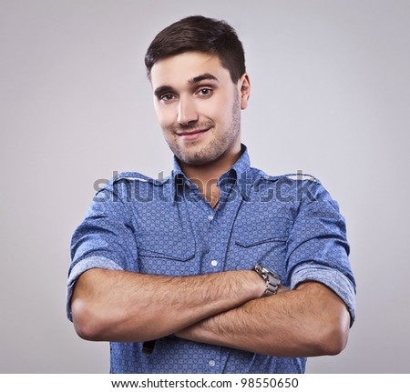 Elegant young handsome man. - stock photo