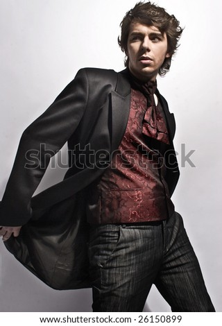Elegant young man - stock photo