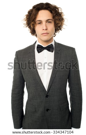 Elegant young man ready for wedding - stock photo