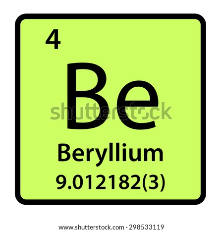 Element beryllium periodic table stock illustration 298533119 element beryllium of the periodic table urtaz