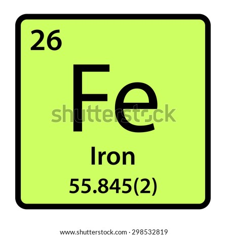 Element iron periodic table stock illustration 298532819 shutterstock element iron of the periodic table urtaz Images