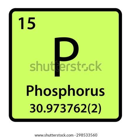 Element  Phosphorus of the Periodic Table - stock photo