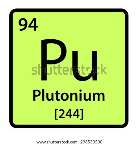 Element Plutonium Periodic Table Stock Illustration 298533500