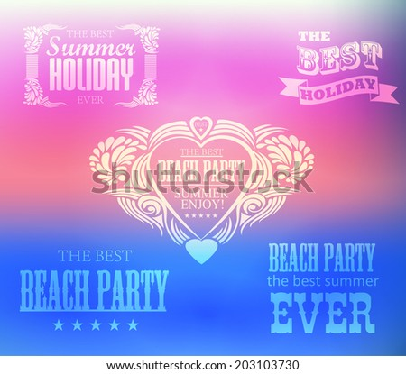 elements for Summer Holidays with colorful background