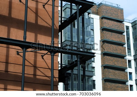 Elements Modern Architecture Saint Petersburg Stock Photo (Royalty ...