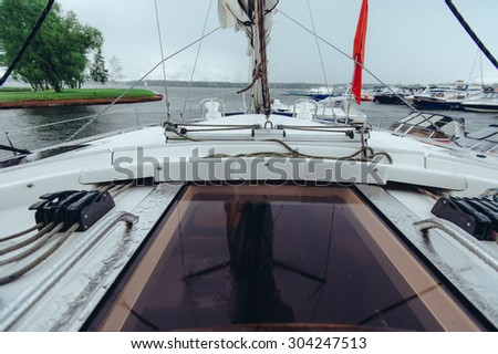 Elements of rigging and equipment sailing yacht