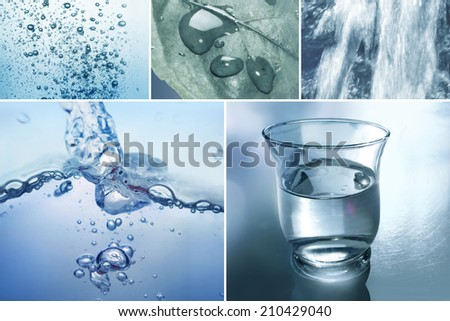 Elements of water - stock photo