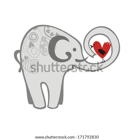 elephant and bird relationship