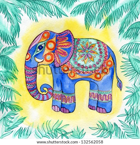 elephant, animal India, - stock photo