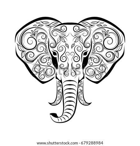 Elephant Zentangle Pages Coloring Pages