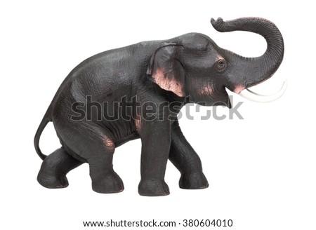 Elephant decorative statuette isolated on white background - stock photo