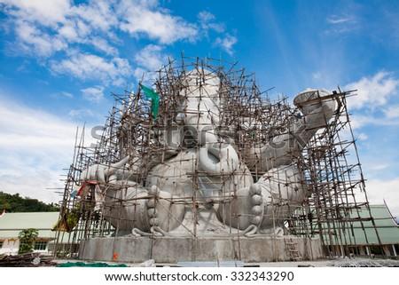 elephant-headed deity C - stock photo