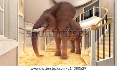 Elephant In The Living Room 3d Rendering Part 50