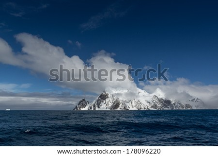 Elephant Island (South Shetland Islands) in the Southern Ocean. With Point Wild, location of Sir Ernest Shackleton amazing survival story - stock photo