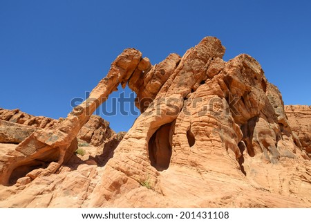 Elephant Rock in Valley of Fire State Park, Nevada - stock photo