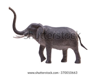 Elephant toy for children on white background
