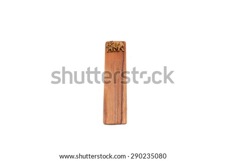 Elephant wooden ruler - stock photo
