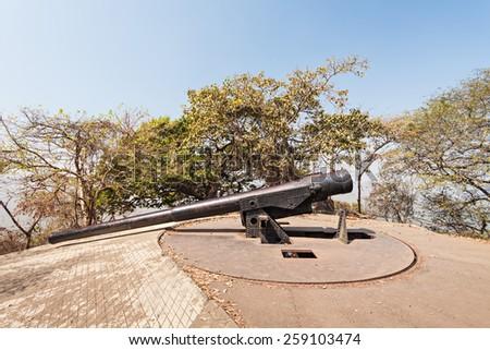 Elephanta Island near Mumbai in Maharashtra state, India - stock photo
