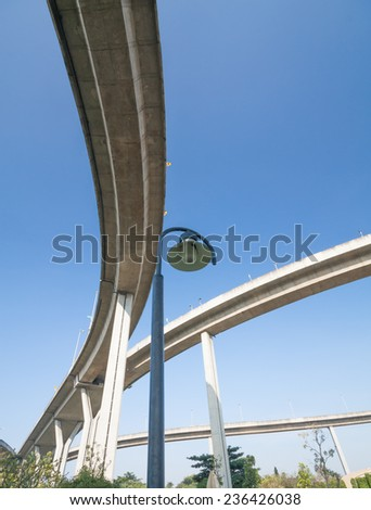 Elevated highway on the park - stock photo