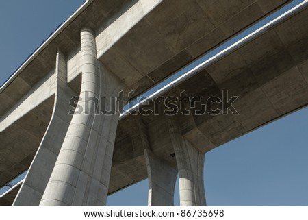 Elevated road - stock photo