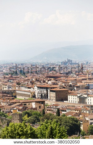 Elevated view of Florence from Michealangelo Plaza