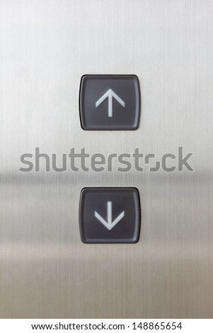elevator black button up and down direction - stock photo