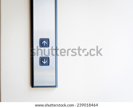 Elevator Button up and down direction - stock photo