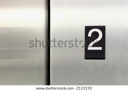 elevator floor number 2 - stock photo