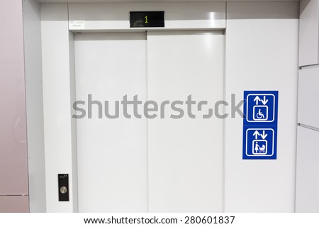 Elevator for mothers and children and physically disabled people in wheelchairs.