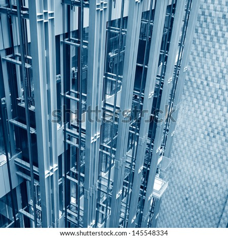 elevator in a shopping center  - stock photo