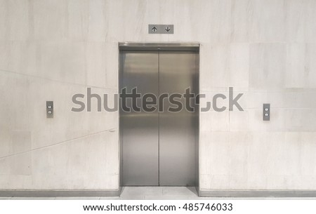 Elevator lift in office.