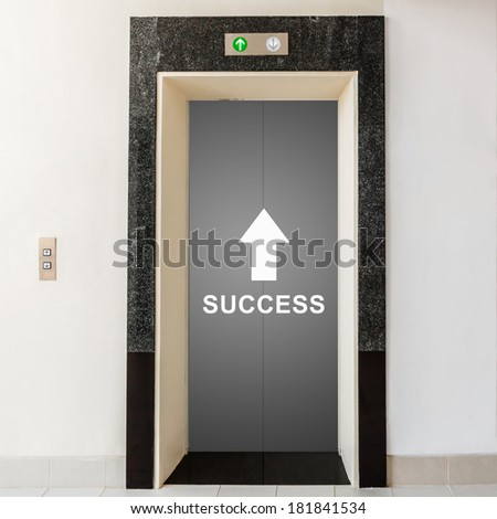 elevator with way to success, business conceptual